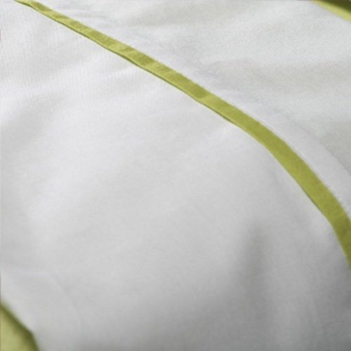 Jollein 008-511-64496 Laken, 75 x 100 cm, wit met paspel lime