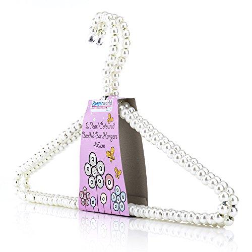 Hangerworld sjaal hanger met gekleurde parels - boutique stijlvol, doek, ondergoed, accessoires 48 wit