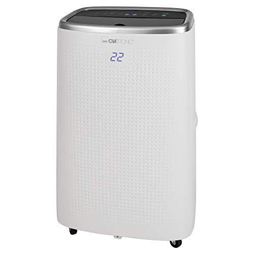 Clatronic CL 3750 WiFi-Klimagerät, 12000 BTU Kühlleistung, geeignet für Räume bis zu 110 m², Alexa + Google Assistant via Voice-Control fähig, 24 Stunden-Timer, 3-stufiger Lüfter, weiß