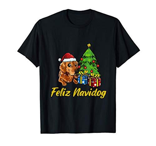 Feliz Navidog Golden Retriever Regalo Perros Navidad Camiseta
