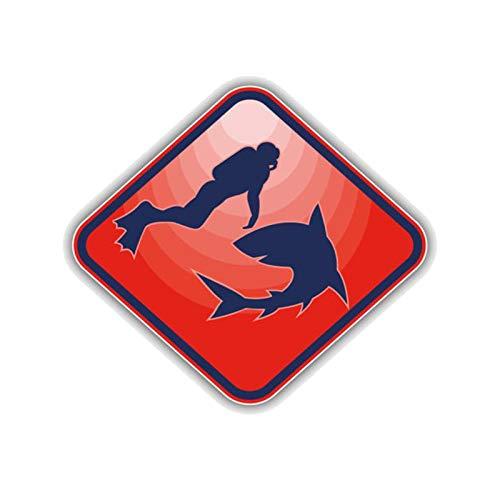 RUIRUI Mode Dekoration Scuba Diver Motorrad Auto Aufkleber 12,7 cm * 11,3 cm