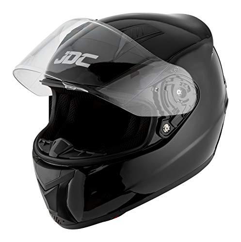 JDC volles Gesicht Motorrad Helm - PRISM - Schwarz - XL