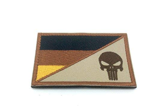Patch Nation Punisher Deutsch Deutschland Gedämpfte Flagge Gestickte Airsoft...