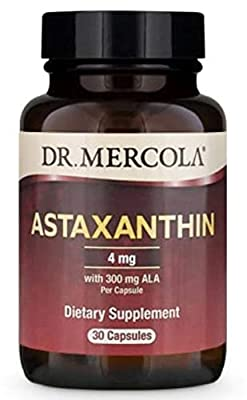 Dr Mercola Astaxanthin with ALA (300mg, 30 Capsules)