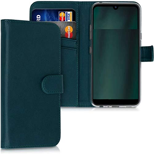 Compatible con Huawei P8 Lite Smart' TAG-L01 TAG-L02 TAG-L03 / GR3 / ENJOY 5S Funda Cover Stand Flip Magnética Libro Gel TPU Cartera ecopiel portatarjetas (verde)