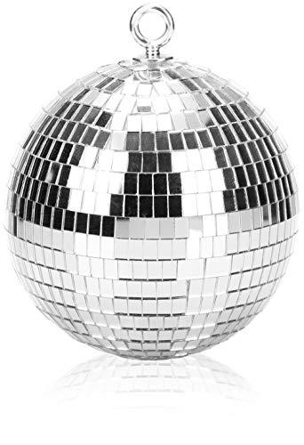 com-four® Discokugel - Spiegelkugel zum Aufhängen - Disco Ball für Party - Partykugel für Silvester, Geburtstag, Mottoparty - Ø 15 cm (Ø 15cm)