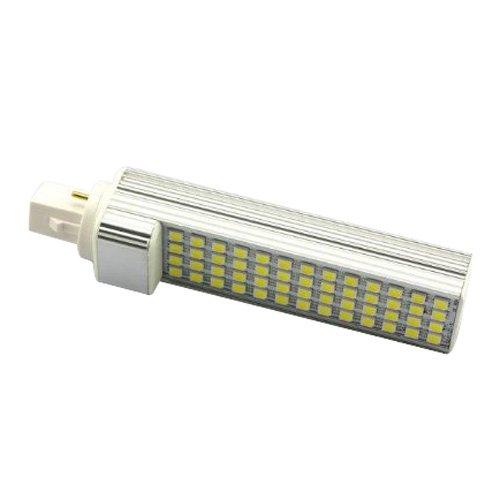 TOOGOO AC110V-220V G24 5050 SMD 52 LED Bombilla de lampara de luz blanca fresca 11W