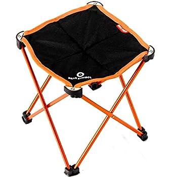 TRIWONDER Mini Tabouret Pliant Léger Petit Tabouret de Camping Chaise Pliable Siège Portable pour Randonnée Jardin BBQ Plage Voayge Pêche (Orange)