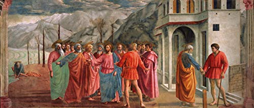 Masaccio Giclee Print On Paper-Famous Paintings Fine Art Poster-Reproduction Wall Decor(Tribute Money Trinity) #XZZ