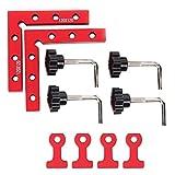 Herramientas de sujeción, aleación de aluminio, ángulo recto de 90 °, abrazadera para carpintería, derecha y # 8209 para cajas, estantes y esquinas exteriores