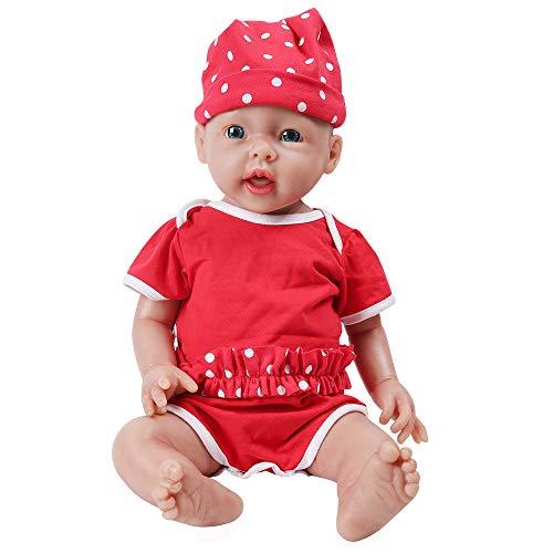 IVITA Pleine Corps Silicone Reborn Bébé Poupée Réaliste Bébé Nouveau-né Poupée Réelle Bébé Poupée à la Main Réaliste Yeux Bleus Doux Vif Bébé Poupée Fille (WG1515-50cm-4028g-Mädchen)