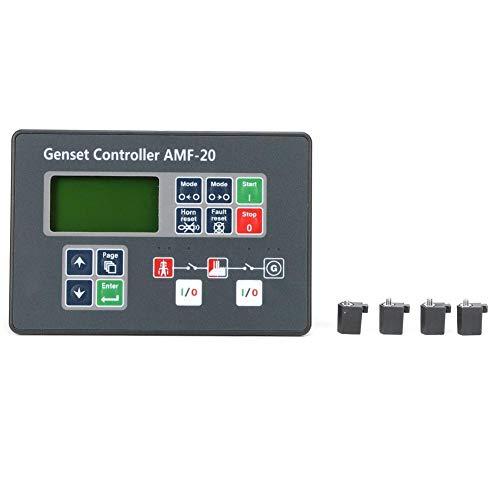 Controlador de grupo electrógeno AMF-20 Monitoreo en tiempo real Generador diesel Controlador automático Pantalla LCD estable Configuración de panel ajustable práctica para generador