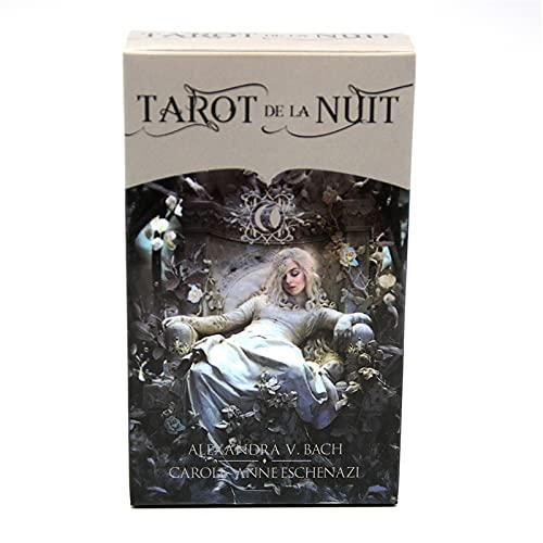 Tarot (Tarot De La Nuit), un Juego de Mesa Completo en inglés, Juego de adivinación, Juego de Cartas de predicción del Destino