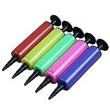 LOVEYue 5 globos portátiles inflables juguetes inflables plástico inflador manual perfecto para niños juguetes intelectuales set regalo color aleatorio L