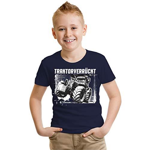 Kinder T-Shirt Traktorverrückt Größe 86-164