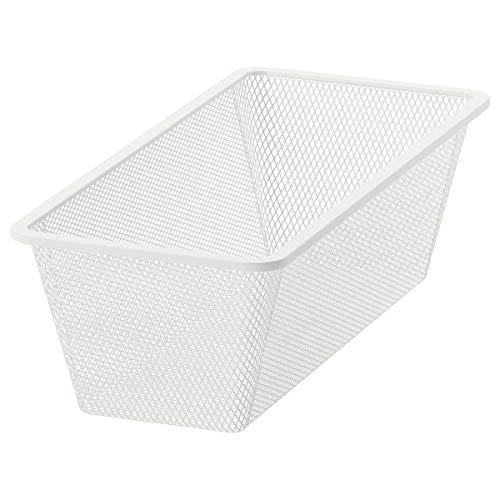 IKEA JONAXEL mesh mand wit (25x51x15 cm)