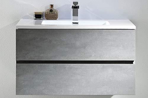 Tona Waschplatz Edda-800 mit Mineralmarmor Waschtisch und vormontiertem Unterschrank
