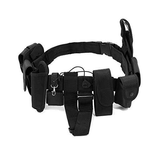 NOA Police Security Belt | Modular Equipment System Security Tactical Duty Belt with 10 Components Pouches Bags Holster Gear for Law Enforcement Security Guard