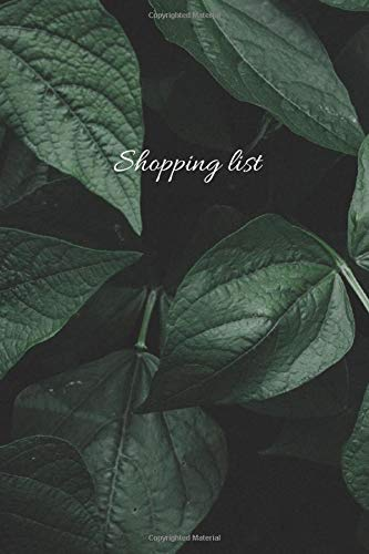 shopping list: For Shopping and To Do Lists,(110 Pages, shoping lists, 6 x 9)