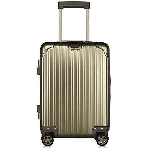 スーツケース キャリーケース TSAロック搭載 3段階調節 アルミ・マグネシウム合金製 キャリーバッグ 360度回転 超静音キャスター 旅行 出張 大容量 軽量 保護カバー付き 180日 by Lesige (チタンゴールド Sサイズ(1〜3泊用・機内持込