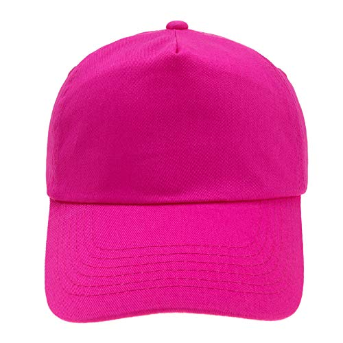 4sold Junior Original 5 Panel Cap Unisex Jungen Mädchen Mütze Baseball Cap Hut Kinder Kappe (Fuschia)