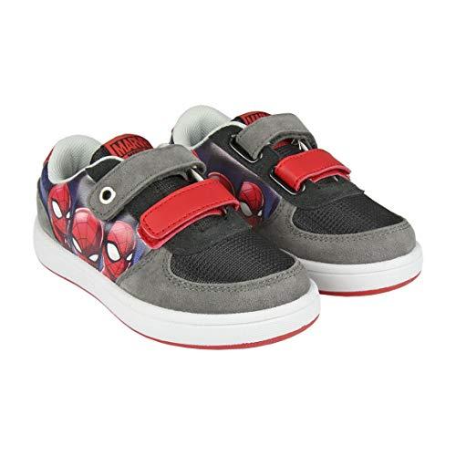 Cerdá Deportiva Skate Spiderman, Sneakers Basses garçon, Rouge (Rojo C06), 25 EU