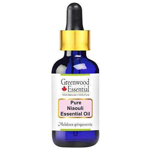Huile essentielle pure de Niaouli de Greenwood Essential (Melaleuca quinquenervia) avec compte-gouttes en verre 100% normale de qualité thérapeutique distillée à la vapeur 100ml Pack of Two (6,76 oz)