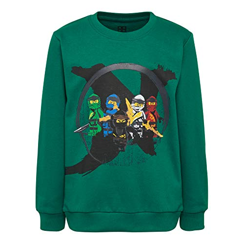 LEGO Jungen CM-50323-SWEATSHIRT Sweatshirt, Grün (Dark Green 875), (Herstellergröße: 104)