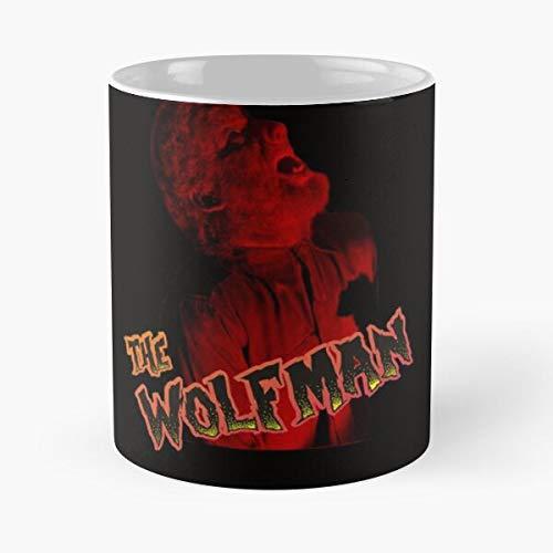 Chaney Werewolf LON Terror Movies 1940 Hammer Dracula Wolfman Taza de café con Leche 11 oz