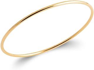 Tata Gisèle Bracelet Jonc en Plaqué Or 18 carats - Fil Rond 2 mm - Sachet Velours Offert