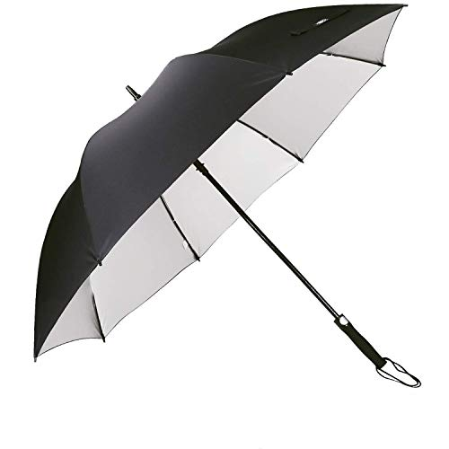 G4Free 62 Inch Automatic Open Golf Umbrella Sun UV Protection Large Oversize Windproof Waterproof Stick Umbrellas(Black)