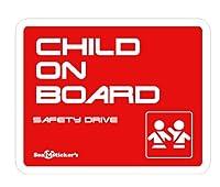 Seal&Sticker's クールデザインのChild on Board マグネットステッカー3serise sts-con-3-mg-red (レッド)
