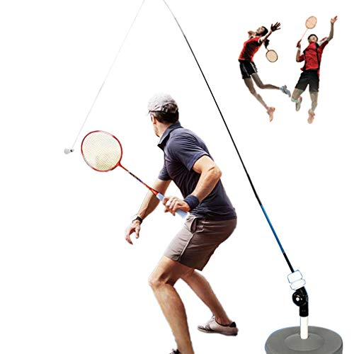 Qklovni Badminton Single Training Device for Adults & Professionals |Self-Study Practice Machine Badminton Stroking