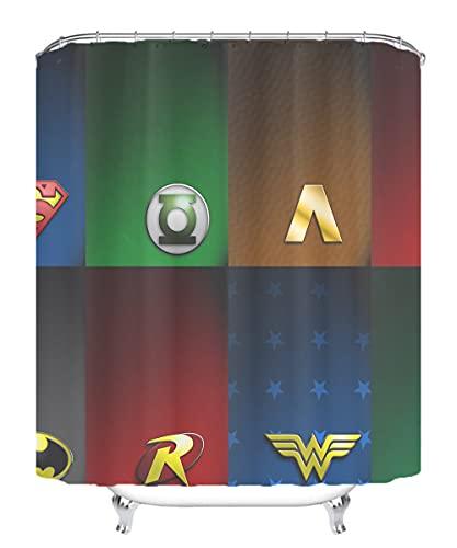 YITUOMO Nationalheld Duschvorhang wasserdicht & schimmelig waschbar Duschvorhang Polyestergewebe 3D Duschvorhang Batman Anime Charaktere 180x200cm