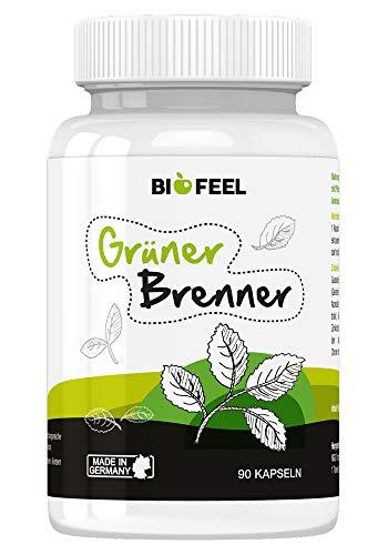 BioFeel Grüner Brenner - hochdosierte Kapseln mit Grünen-Kaffeebohnen-Extrakt und Guarana -...