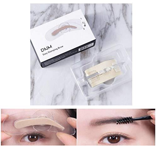1/2 PCS réglable sourcil insigne muguet du débutant artefact façonner trois sourcils forme sourcils maquillage outils sans poudre à sourcils (1PC)