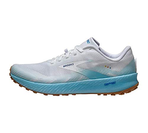 Brooks Catamount White/Iced Aqua/Blue 5 B (M)