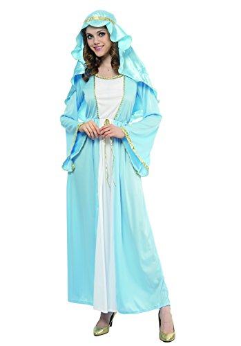 Fiori Paolo Virgen María - Disfraz de mujer para adulto, color azul, talla 40-42, 62028