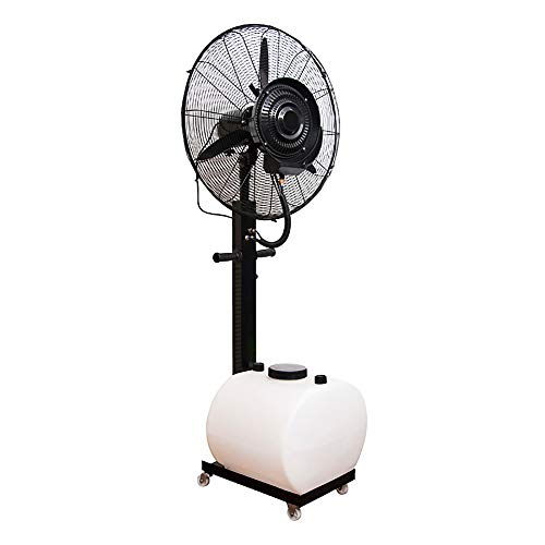 Ventilador con Agua pulverizada oscilante, Ventilador Industrial para Exteriores, Viento Muy Fuerte, Piso de enfriamiento, con Tanque de Agua Blanca, 3 velocidades, para Patios de enfriamiento