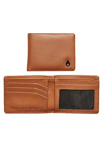NIXON Cape Vegan Leather Wallet - Saddle