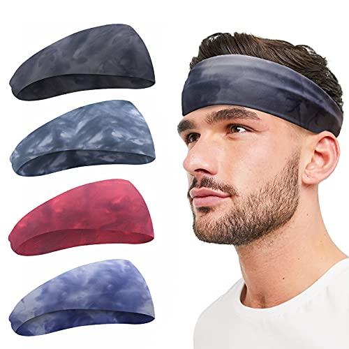 Sport Stirnband für Männer und Frauen - Leichtes Schweißband Feuchtigkeitsableitendes Trainings-Schweißband für Laufen, Radfahren, Yoga, Basketball - Stretchiges Unisex-Stirnband