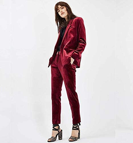 amazon com topg womens red velvet suits slim fit business suits wedding women suit clothing topg womens red velvet suits slim fit
