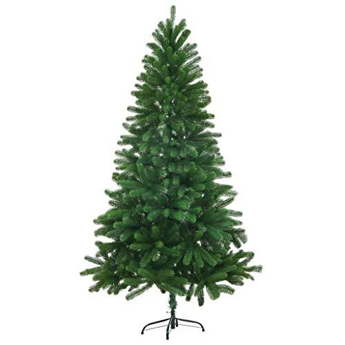 vidaXL Künstlicher Weihnachtsbaum Naturgetreue Nadeln Spritzguss 150 cm Grün
