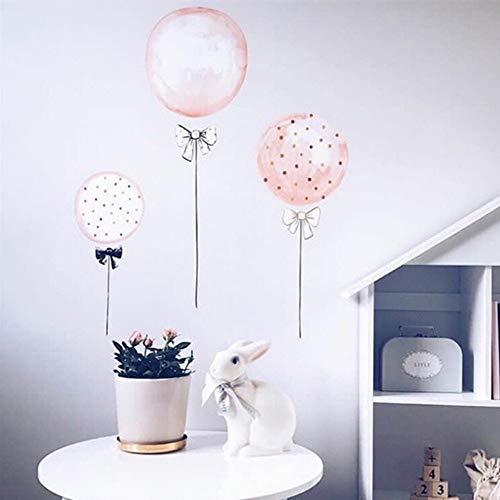 YSFU Wandsticker Wandaufkleber Rosa Luftballons DIY Umweltfreundliche Wasserdichte Kinderzimmer Schlafzimmer Dekoration Tapete