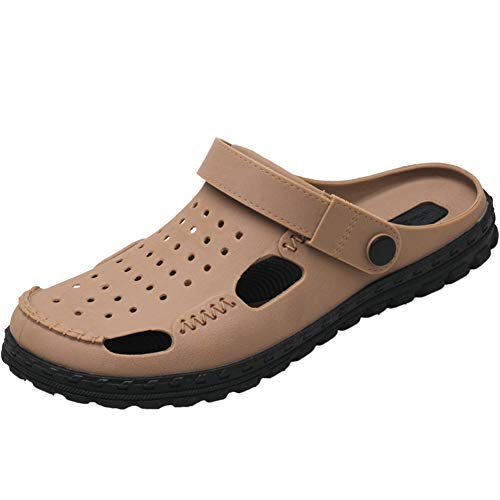 FDSVCSXV Summer Garden Clogs Lightweight Slip Sky Slipper Sandals Sandalias Piscina Piscina Antideslizante Hombres,Latón,44
