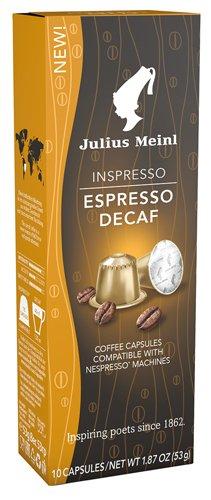 10x Julius Meinl - Inspresso Espresso Decaf 8, koffeinfrei - 53g