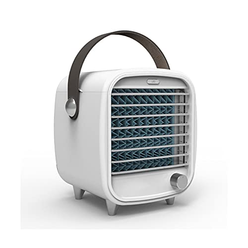QYYYUNDING Acondicionador de aire Acondicionado Mini Aire acondicionado portátil, refrigerador de aire Ventilador de refrigeración de escritorio tranquilo 3 Modos Humidificador de rociado para dormito