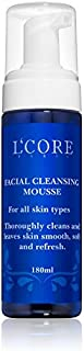 L'core paris Facial Cleansing Mousse for all Skin Types, thoroughly Cleans and leaves Skin Smooth, Soft and Refreshed, 6.08 fl. oz.