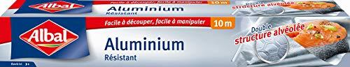 Albal Rouleau Aluminium, Facile à Découper, Résistant, 10 m.