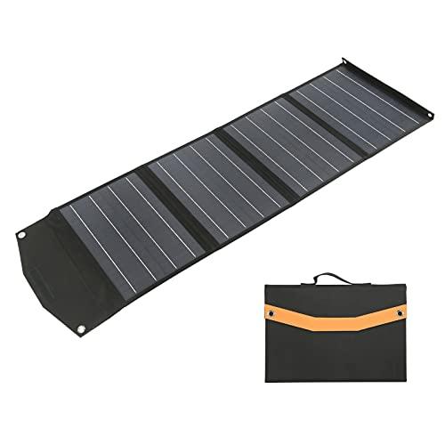 BTER Kit de Panel Solar, 80W 5V USB DIY Panel de Cargador Solar portátil Plegable para Exteriores Cargador de Panel Solar monocristalino Impermeable para teléfono, Tableta, computadora, cámara, etc.